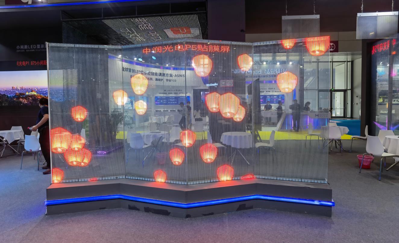 LED透明屏在酒吧商场的应用越来越多