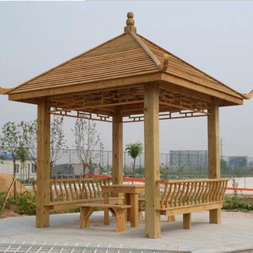 重庆防腐木凉亭和防腐木花架要如何维护安装