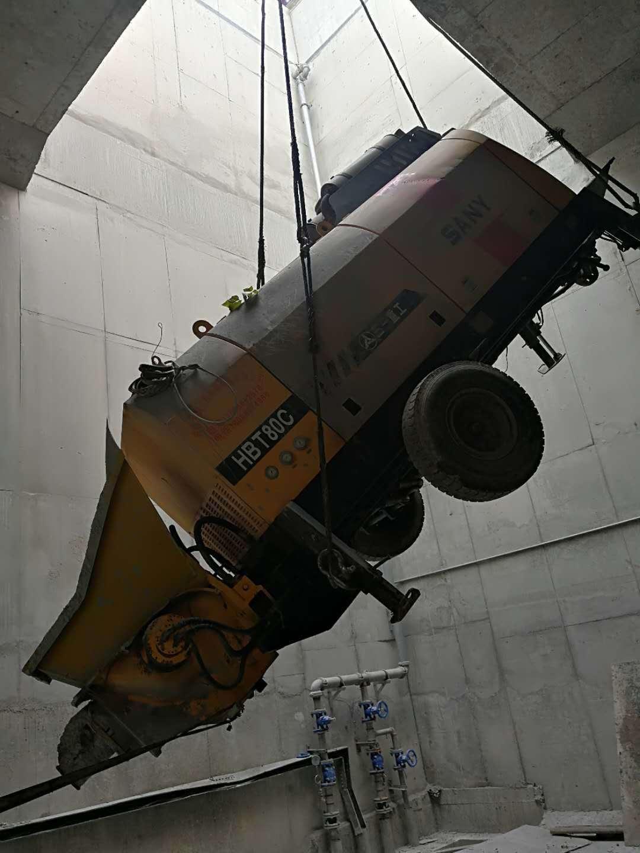 8018柴油拖泵在重庆地铁施工现场