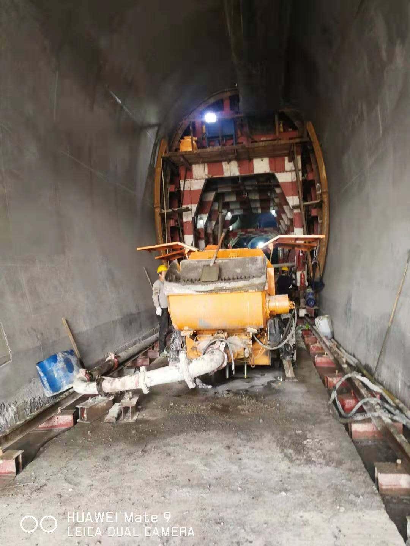 6013拖泵在叙永四川路桥叙毕铁路永福隧道施工现场