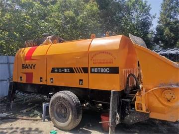 三一重工8018181RS柴油拖泵租售实际泵送过800米