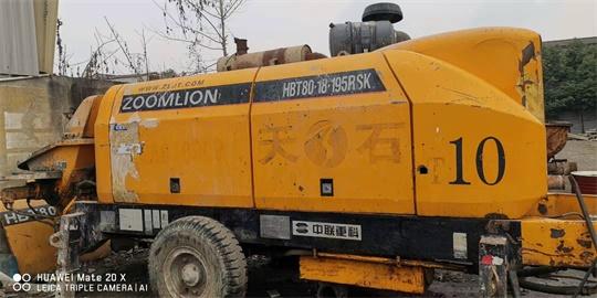 中联8018195RS柴油拖泵西藏日喀则樟木口岸边坡治理施工现场