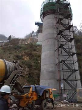 成昆铁路大桥施工