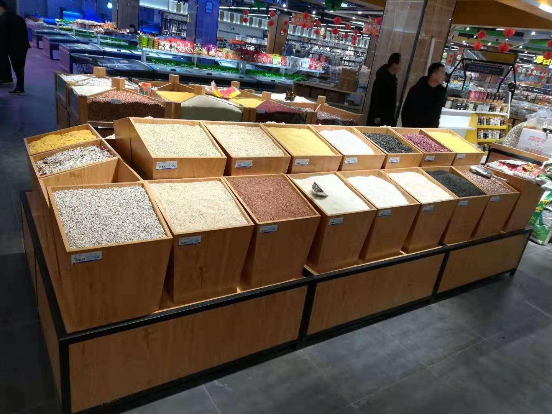 内蒙古超市货架——米面油粮货架