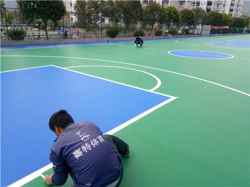 河南硅PU篮球场塑胶面层多少钱?