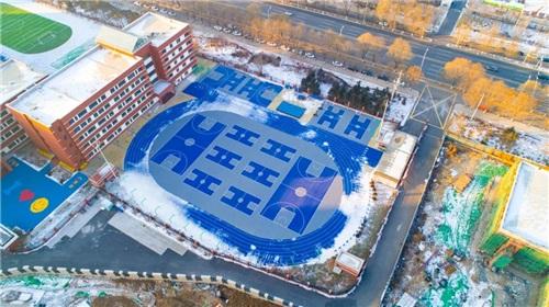 河南塑膠跑道廠家與科右中旗白音胡碩1中的成功案例