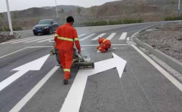 陕西道路标线施工现场展示