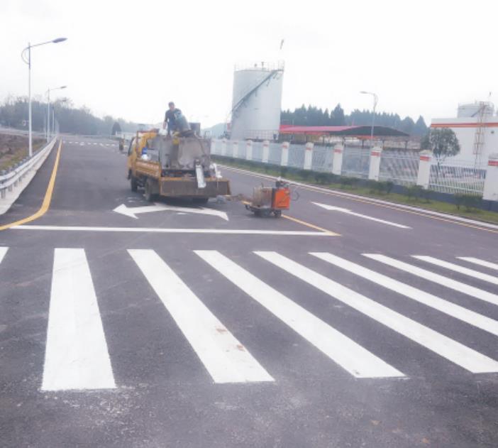 道路标线施工案例