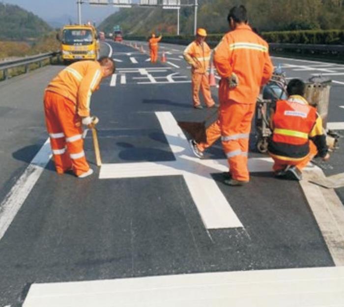 道明交通道路标线施工