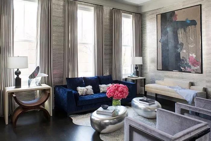 高级灰+蓝色,打造优雅的高贵感