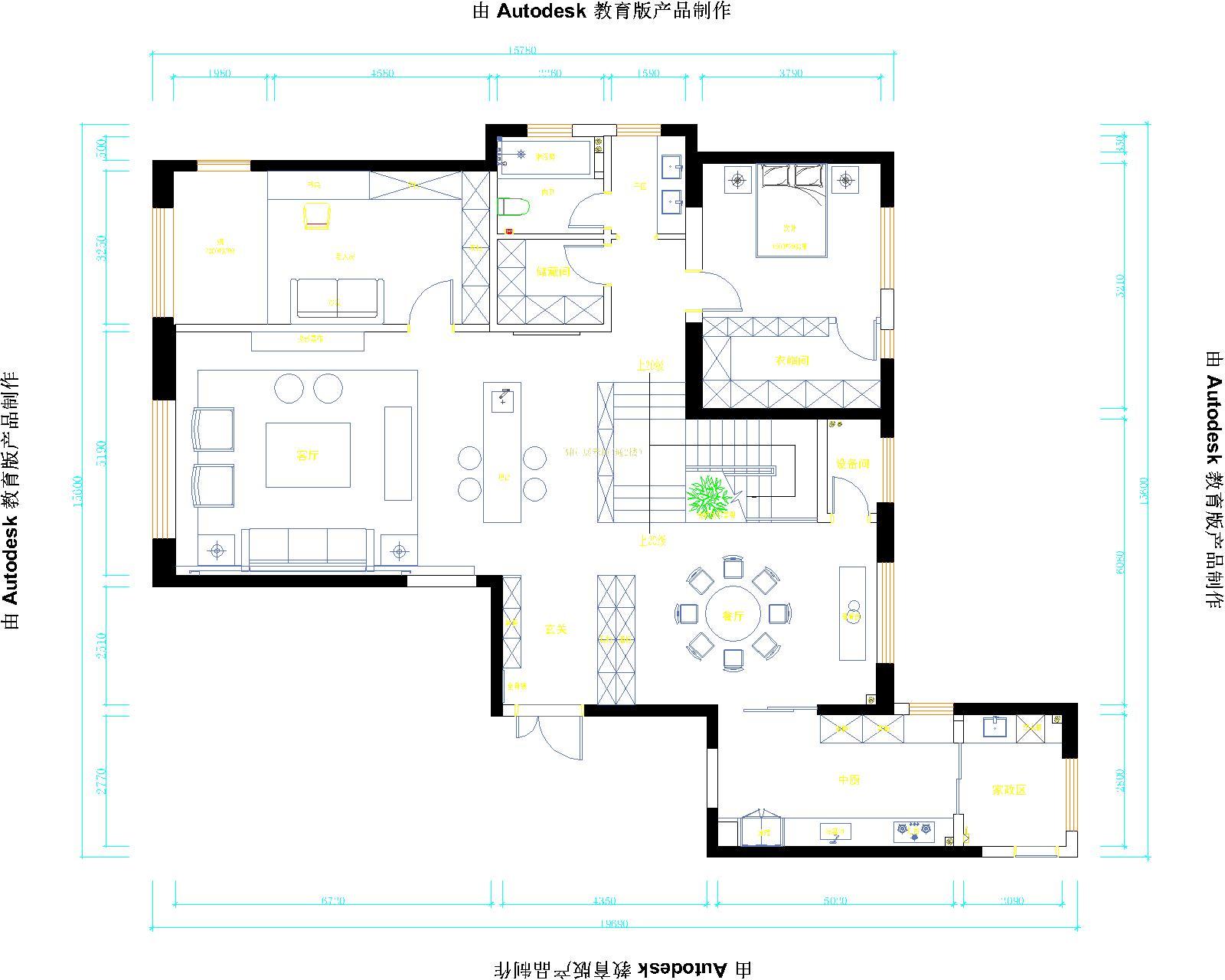新中式  -白桦林居明天3居室乔先生新家