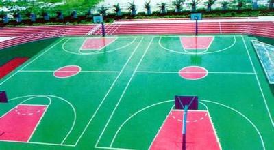 金沙城娱乐官方平台水性硅PU篮球场
