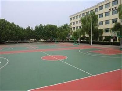 水性硅PU篮球场