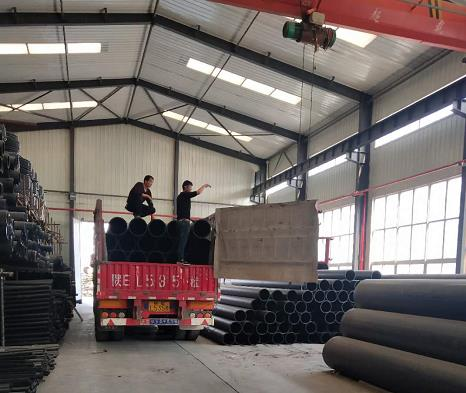 HDPE给水管库房货物现场展示
