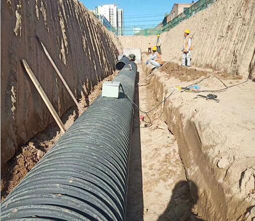 黄沙桥双壁波纹管施工案例