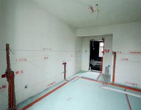 西安二手房改造公司为西安某厨房进行水电整改