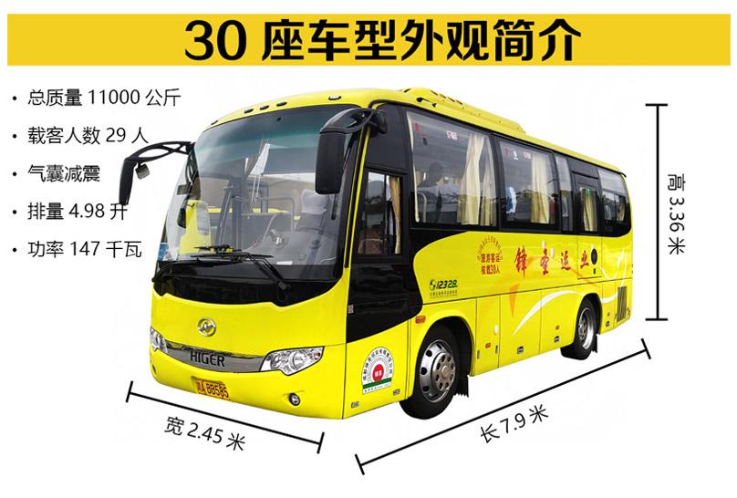 成都旅游包车-30座车型展示
