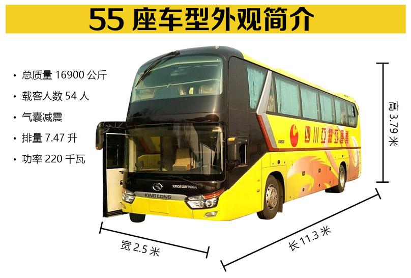 成都旅游租车-55座车型展示