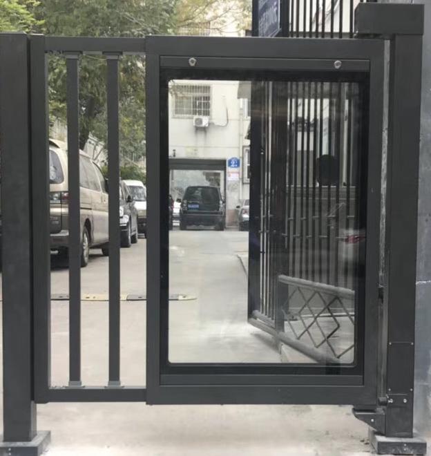小区广告平开门 安装便捷 安全性能高