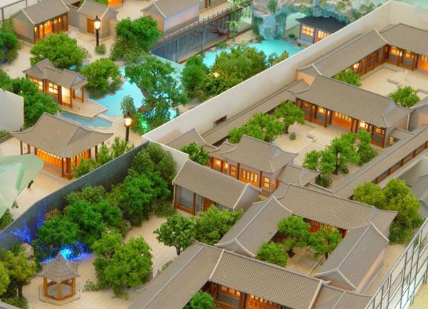 古建筑模型展示