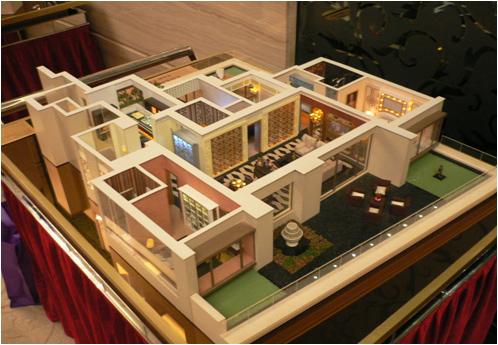 南阳别墅户型模型