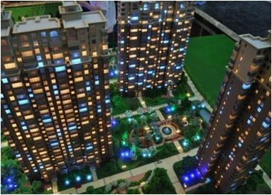 建筑模型灯光制作效果