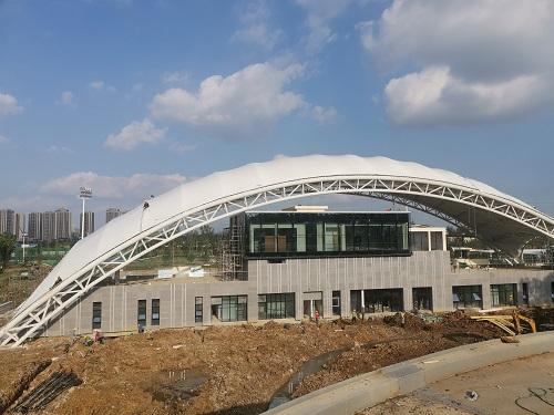 成都理工大学看台膜结构案例 · 成都理工大学看台膜结构案例