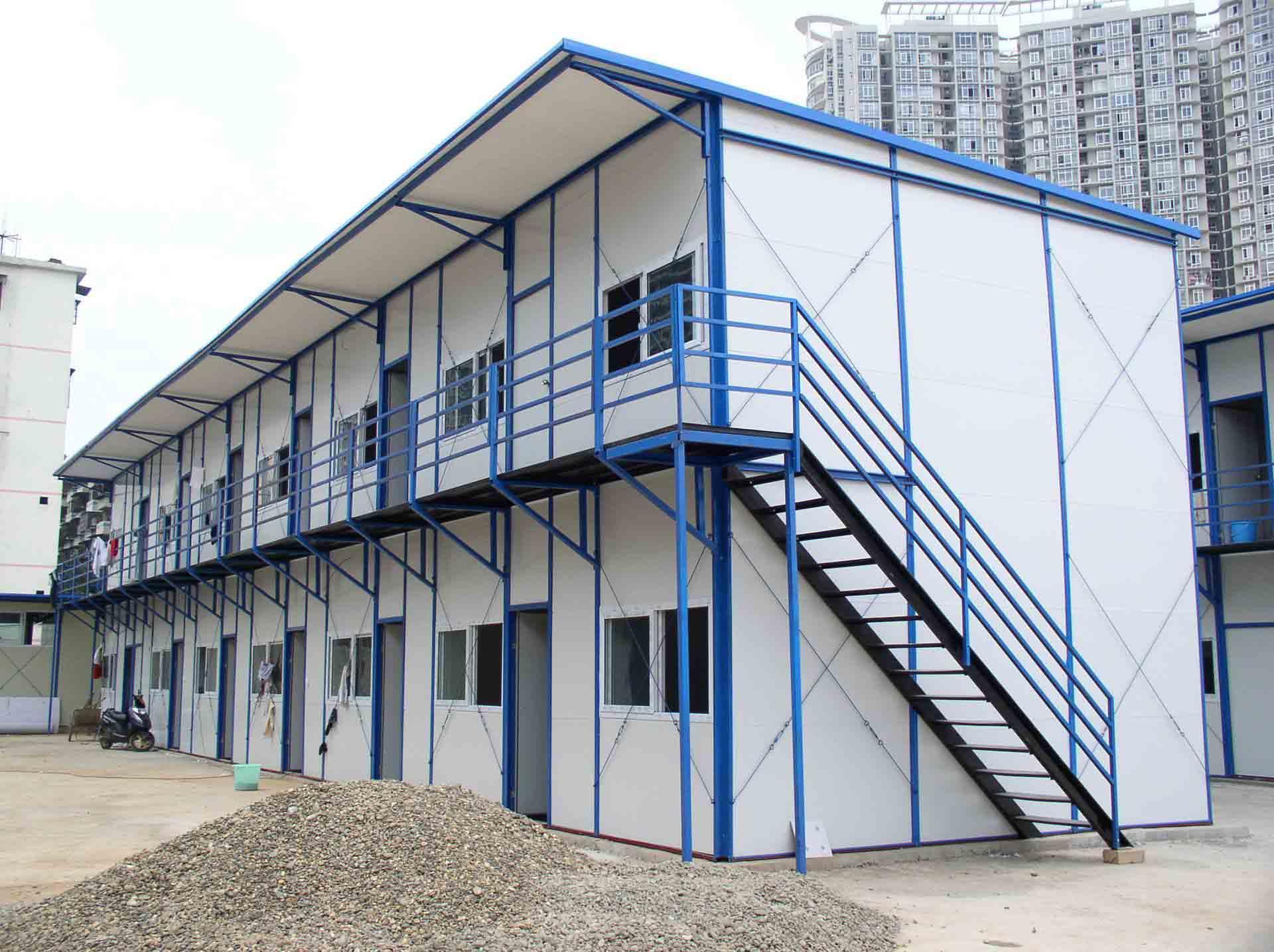 工地施工人员住宿房使用活动板房建造效果展示