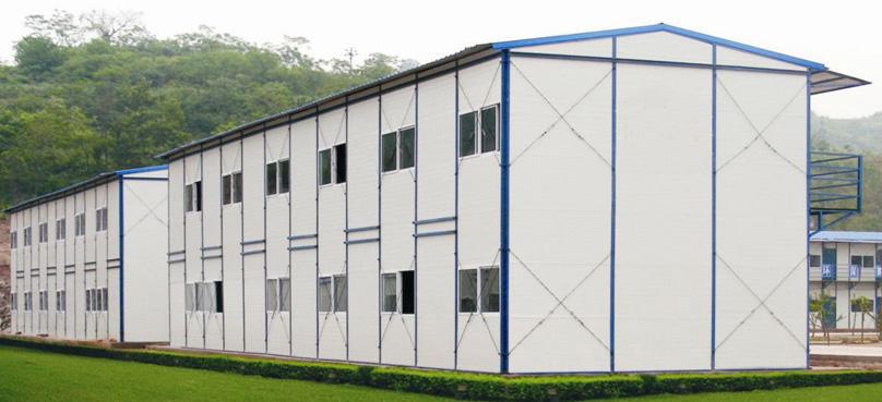 南阳网架活动板房 钢结构安装 稳定性高 安全系数大