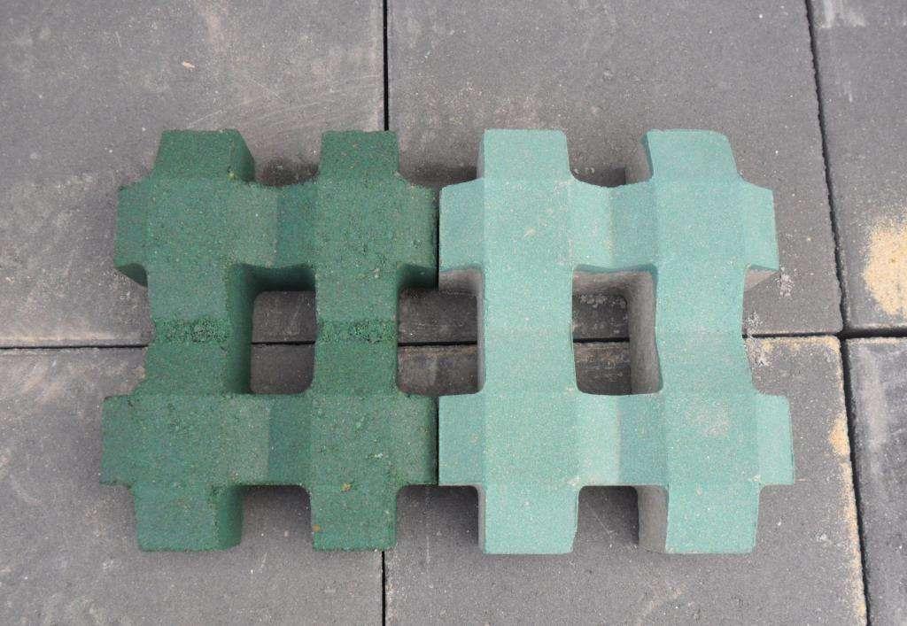 白银井字型植草砖
