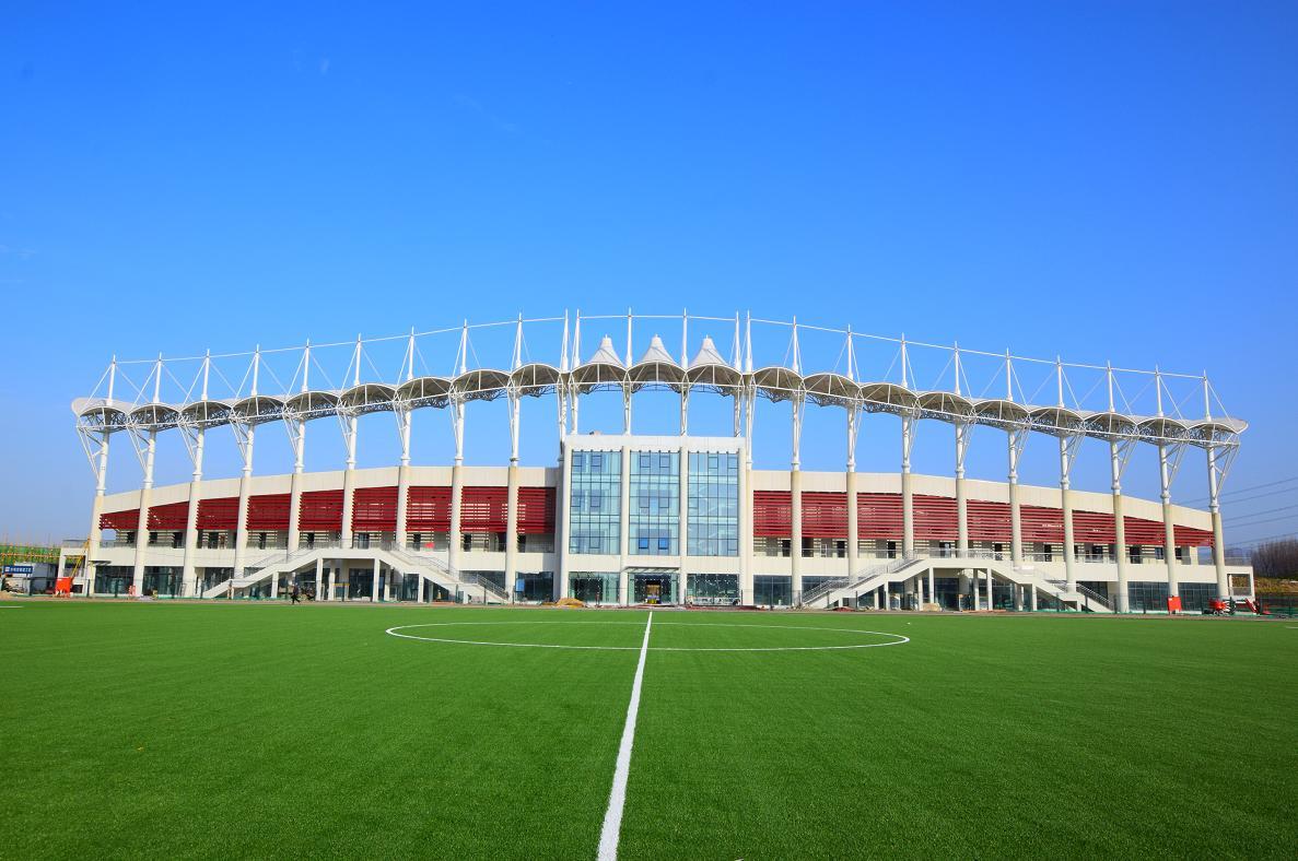 户县体育馆采用铝镁锰板