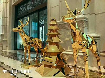 不鏽鋼小鹿雕塑案例