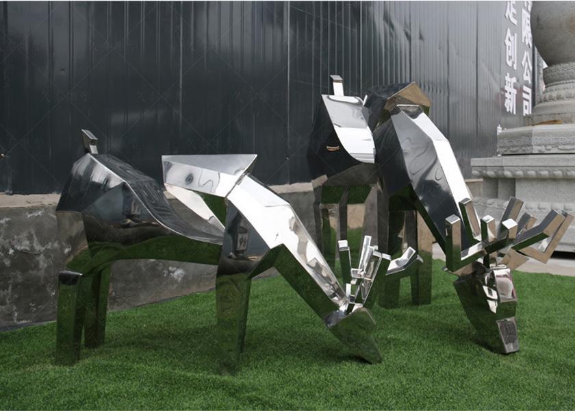 不鏽鋼動物雕塑,讓公園更加生動有趣