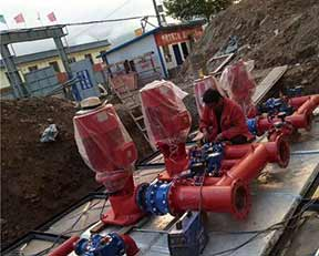 上海凯泉消防泵现场安装图