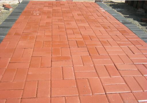 成都锦江城市花园用本厂成都水泥彩砖类制品
