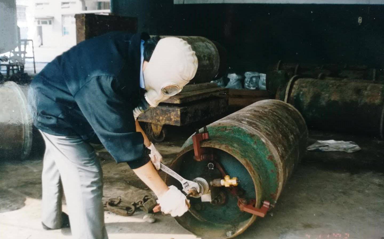 四川液氯鋼瓶換閥裝置