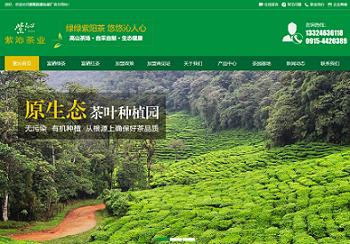 紫阳县紫沁茶厂 宜昌营销型网站建设