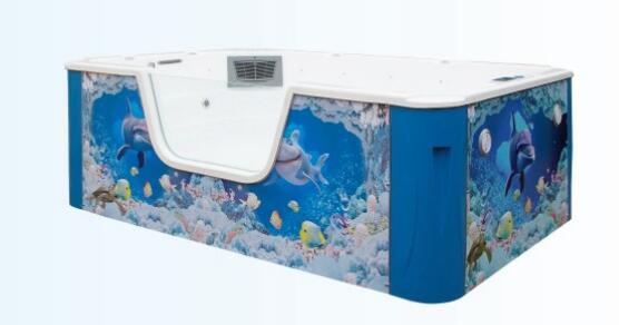 200*300*100cm单面透明儿童泳池