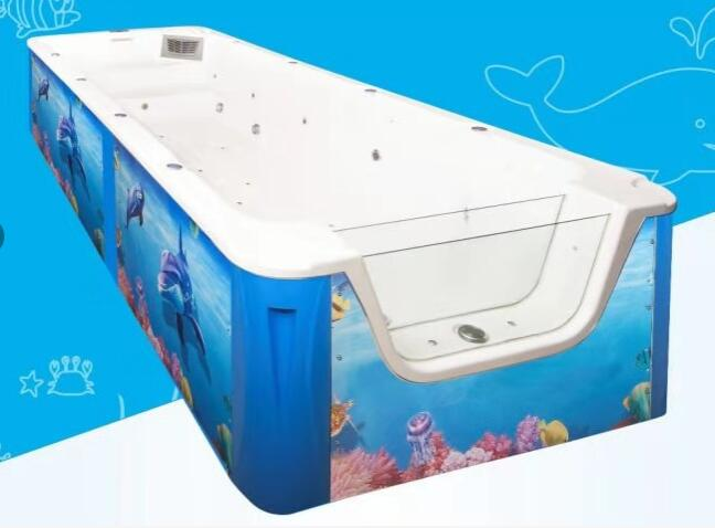 500*200*100cm單面透明兒童游泳池