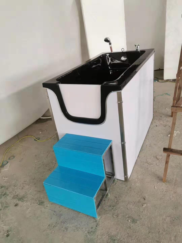 新款亚克力可移动、可开关门式宠物洗澡池浴缸