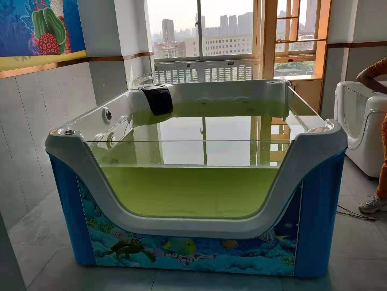恭祝湖南株洲尚格广场爱尚婴童游泳会所设备调试完工