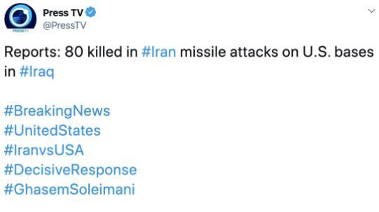 伊媒:若美军报复 伊朗还将瞄准其余100个打击目标