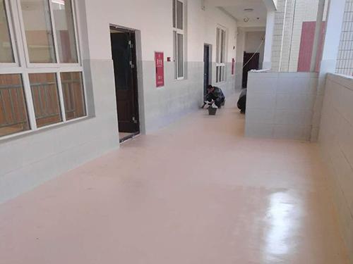 四川聚脲涂料成功案例:学校教学楼及附属办公楼聚脲地坪工程