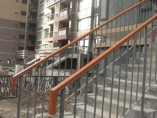 西安高新逸翠园小区pvc高分子楼梯扶手