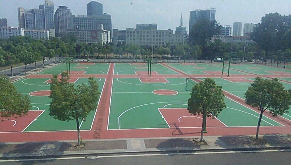 國防科技大學矽PU籃球場