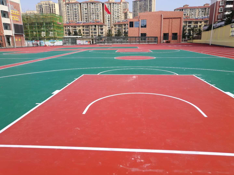 陝西矽PU籃球場