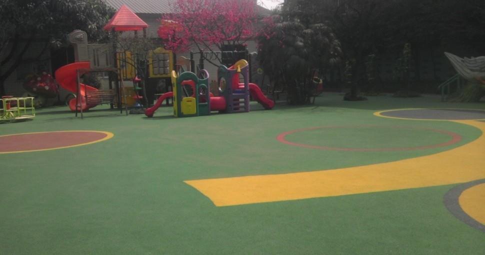 幼儿园弹性装饰地面