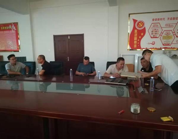 宁夏灵武市梧桐乡政府领导来公司考察和商务会谈