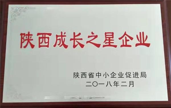 侨诺新能源设备制造公司获得陕西成长之星企业