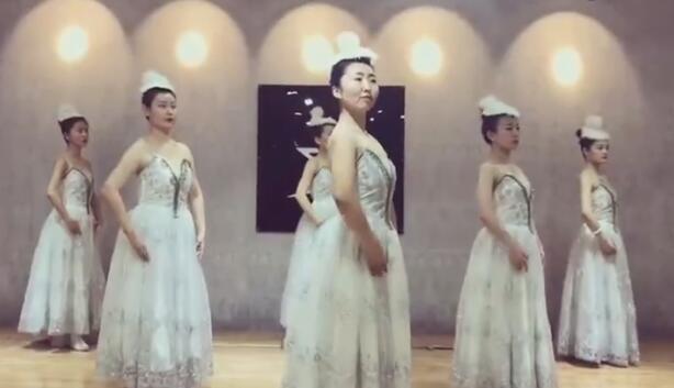 芭蕾基训《绒花》